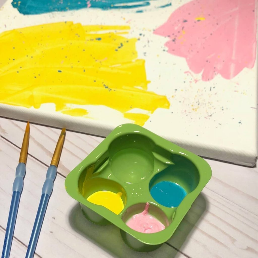 DIY perfectlyfree non-dairy frozen bites green tray for painting